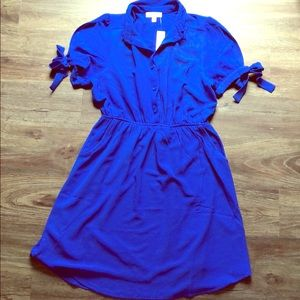 🆕NWT Cold Shoulder Shirt Dress